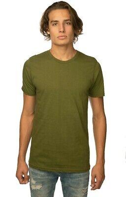 BRAND NEW Royal Apparel Men's Crew Hemp T-Shirt Olive Green, Hemp Blend Fabric