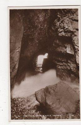 The Cave, Devil's Hole, Jersey RP Postcard, B338