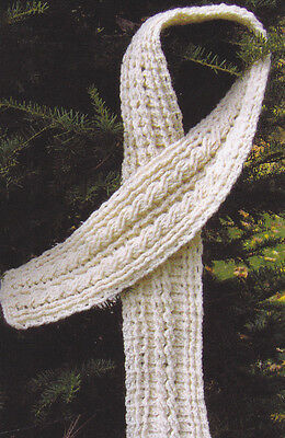 Crochet Pattern ~ LADIES REVERSIBLE CABLED SCARF ~ Instructions