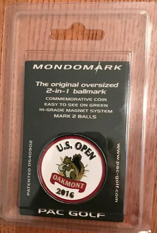 2016 US OPEN, Oakmont, MondoMark with DUSTIN JOHNSON BALL MARKER