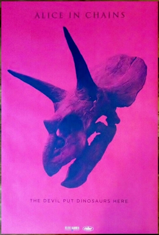 ALICE IN CHAINS Devil Put Dinosaurs Here Ltd Ed HUGE RARE Poster! Rainier Fog