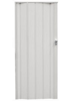 White Concertina door