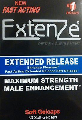 Extenze  1Brand Extended Release Maximum Strength Soft Gelcaps   30  Exp 04 2019