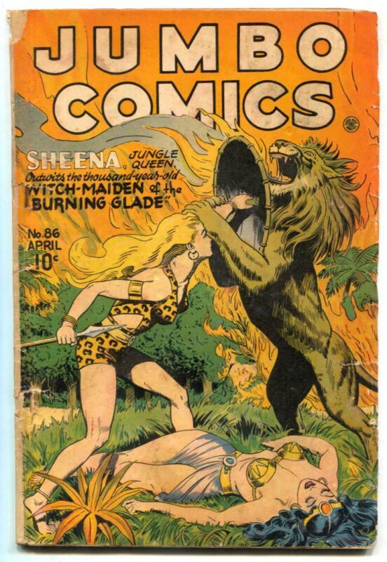 Jumbo Comics #86 1946- SHEENA- Matt Baker G