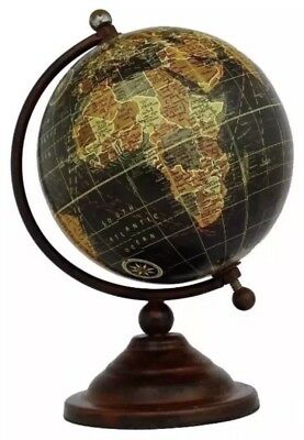 Vintage Globe Rotating Swivel Map of Earth Atlas Geography World Gift 18cm High
