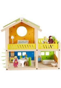 Wooden Doll House Set with Accessories