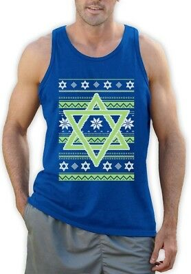 Ugly Holiday Sweater Ideas (Happy Hanukkah Ugly Holiday Sweater Star Of David Singlet Jewish Gift)