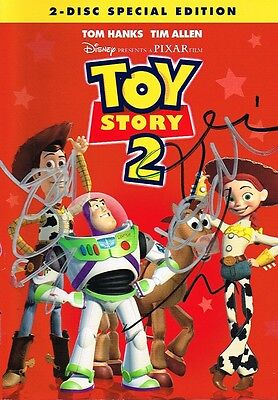 Toy Story 2 Cast Signed Dvd Tim Allen Joan Cusack John Morris Not Mint Coa