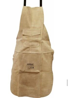 5 xPremium Beige Leather Welders / Welding / Carpenters / Gardeners Safety Apron