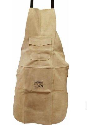 Premium Beige Leather Welders / Welding / Carpenters / Gardeners Safety Apron