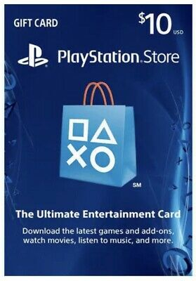 PlayStation Network Gift Card 10$ USA PSN - PS3/ PS4/ PS Vita (Delivery Usps )