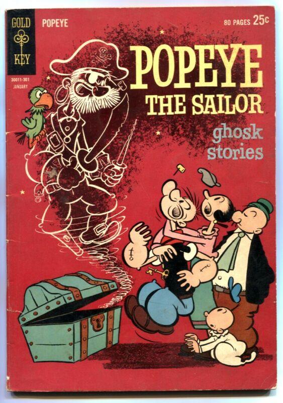 Popeye #67 1962- Gold Key giant- Ghost Stories VG