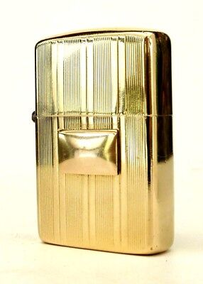 Rare Vintage Mid Century 14-Karat Littal Lite Flip Pocket Lighter