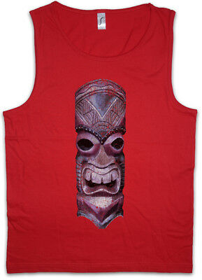 Tank Top Hawaii Tattoo Skull Osterinseln Kopf Köpfe (Tiki Köpfe)