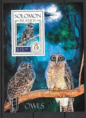 SOLOMON ISLANDS 2013 OWLS (4) MNH