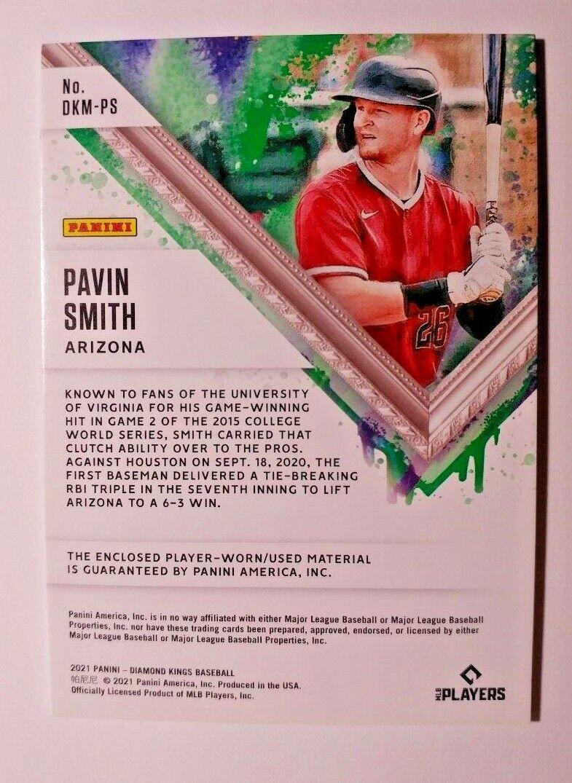 2021 DIAMOND KINGS DUAL RELIC PAVIN SMITH - $9.99