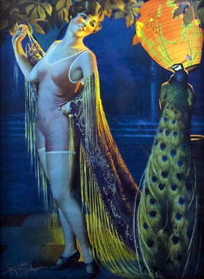 Old Fashion Swim Suit (Lady old fashioned Swim Suit with Peacock Lanterns by Gene)