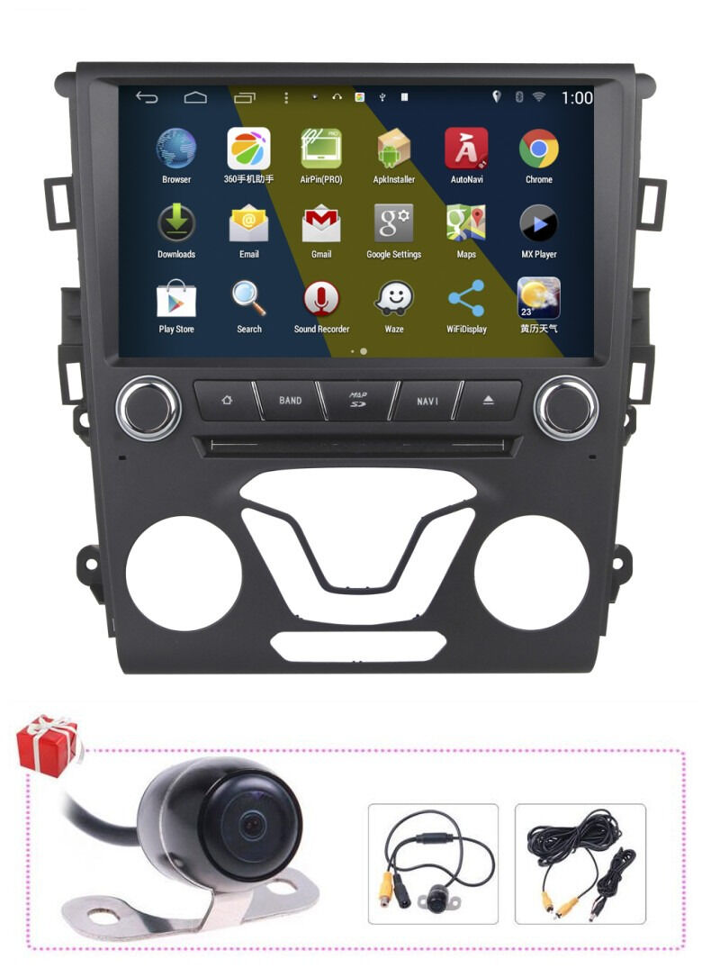 9 android 4 4 autoradio dvd gps navigation for ford mondeo fusion 2013 2014. Black Bedroom Furniture Sets. Home Design Ideas