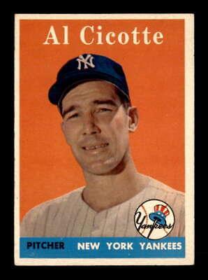 1958 Topps #382 Al Cicotte  EX+ X1844070