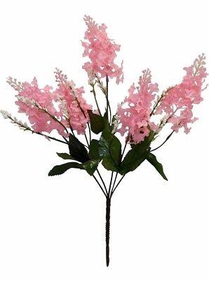Pink Wedding Centerpieces (5 PINK Lilacs Silk Wedding Flowers Bouquet)