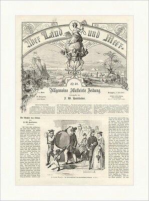 Amerikanischer Bürgerkrieg. Rekrutenwerbung in den Südstaaten Holzstich E 5903