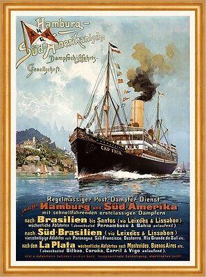 Hamburg Südamerikanische Dampfschifffahrts Gesellschaft La Plata Plakate A2 287