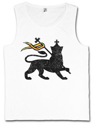 LION OF JUDAH I TANK TOP VEST Bob Rasta Reggae Marley Jamaica Rastafari Irie Ska