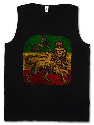 LION OF JUDAH III TANK TOP VEST Bob Rasta Reggae Marley Jamaica Rastafari Irie