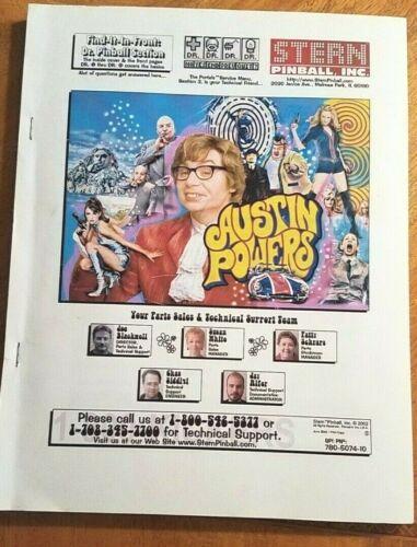 Austin Powers Full Color pinball manual