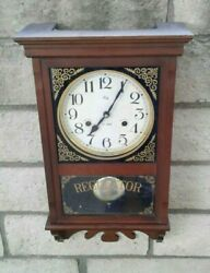 Vintage Welby Regulator Wooden Cabinet chime Wall Clock