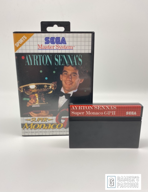 Ayrton Senat´s Super Monaco GP II I Sega Master System I sehr gut I OVP I CIB