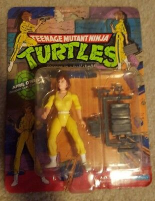 NJA TURTLE ACTION FIGURE FACTORY SEALED RARE MINT (April Oneal)