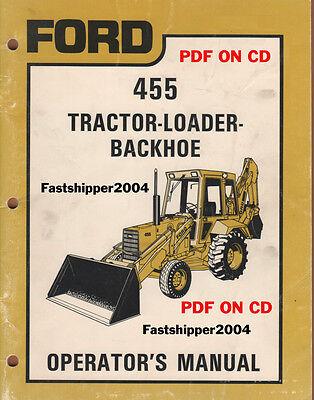 Ford 455 Tractor Loader Backhoe Operators Manual Op Owner Operator Ship Fast Cd
