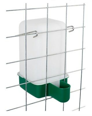 10 X NEW 1L LITRE CHICK QUAIL AVIARY PIGEON CAGE DRINKER FLOWMATIC WITH BRACKET