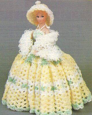 COVER GIRL FASHION DOLL BATHROOM TISSUE ROLL COVER CROCHET PATTERN INSTRUCTIONS Crochet Tissue Cover