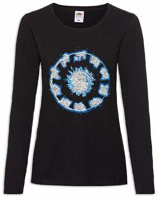 Iron Arc Reactor Damen Langarm T-Shirt Symbol Tony Sign Logo Man Stark Symbol ()