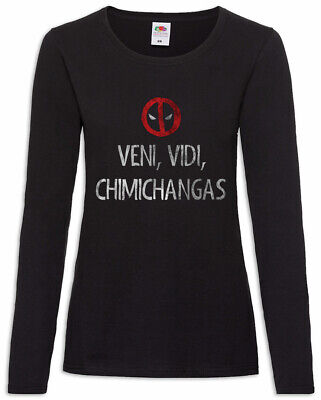 Veni Vidi Chimichangas Damen Langarm T-Shirt Spanish Spain Deadpool Fun