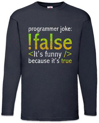 Programmer Joke Herren Langarm T-Shirt Informatiker Fun Nerd Programmierer Geek