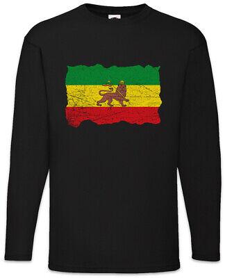 Ethiopia Rastafari Flag Long Sleeve T-Shirt Rasta Babylon Irie Reggae Jamaica
