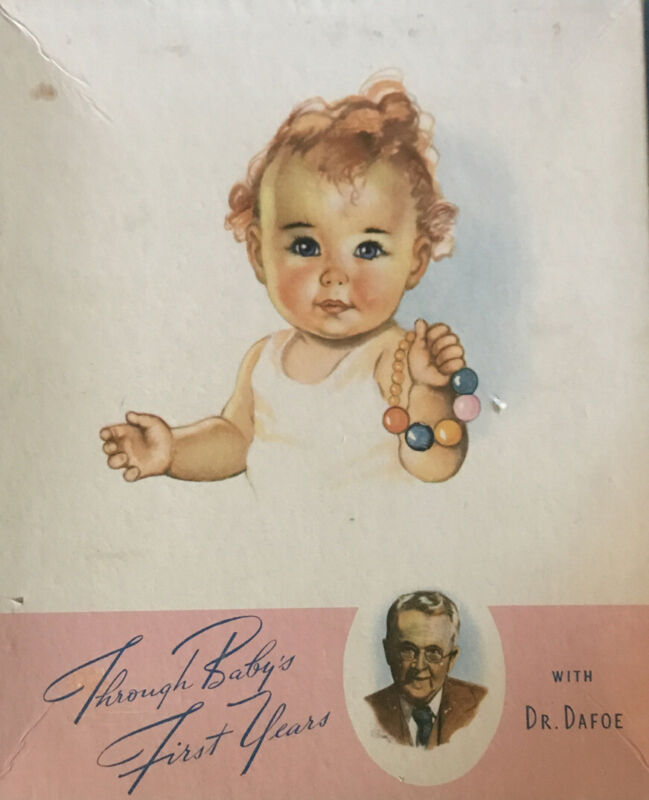 Vintage 1940s Dr Dafoe Baby Memory Keepsake Book For Parents To Fill In & Learn