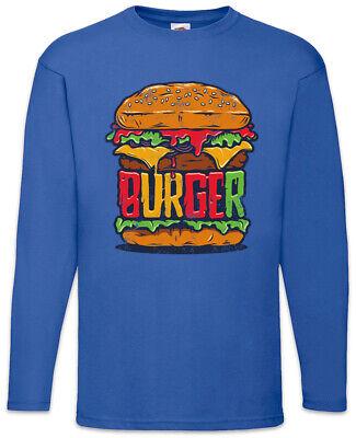 Burger Langarm T-Shirt Barbecue Grill Chef Bun Hamburger Cheeseburger Fun ()