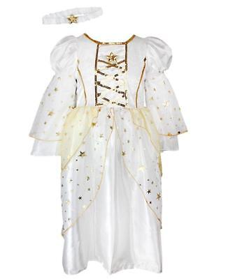 Angel Costume Store (FANCY DRESS GIRLS ANGEL NATIVITY DRESS & HEADBAND EX STORE 9M-4Y)