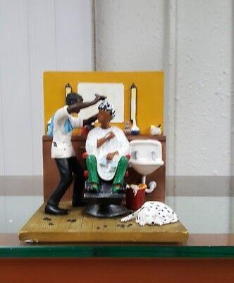 Annie Lee Figurine Barber's Chair/African American Art Liquidation Sale!!!!!