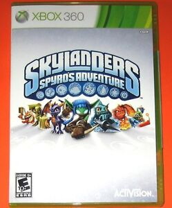 SKYLANDERS-Spyros-Adventure-XBOX-360-game-disc-holder-only-SEALED-no-portal