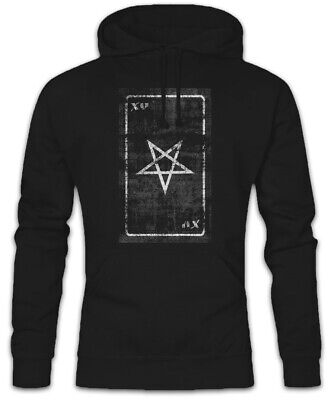 Teufel Hoodie (Tarot The Devil Hoodie Kapuzenpullover Card Logo Satan Der Teufel Karte Karten)