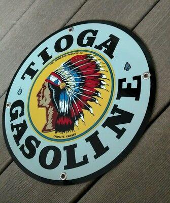 Tioga Gas Oil Gasoline Sign