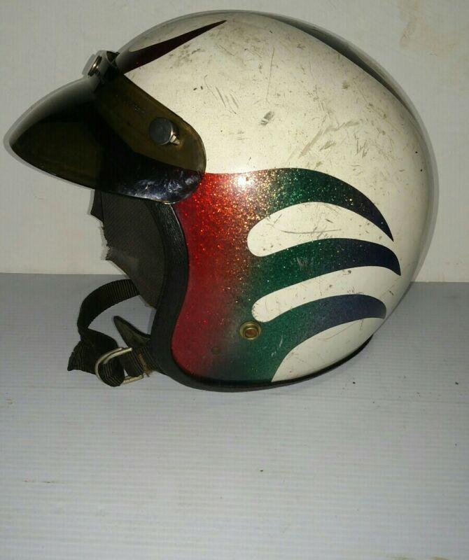 Vintage hot rod motorcycle helmet