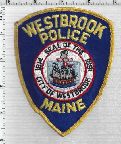 Westbrook Police (Maine) 2nd Issue Uniform Take-Off Shoulder Patch