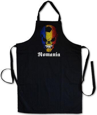 ROMANIA FOOTBALL SOCCER SKULL GRILLSCHÜRZE KOCHSCHÜRZE - Fußball Fan Hooligan