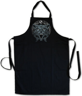 CELTIC TRIBAL WOLF BBQ COOKING APRON Cross Celts Symbol Sign Culture